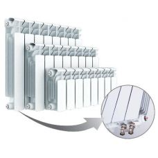 Радиатор биметаллический Rifar Base Ventil 200/8,левое подключение (без H-образного узла)
