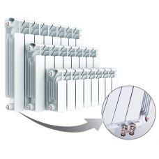 Радиатор биметаллический Rifar Base Ventil 350/4, левое подключение (без H-образного узла)