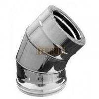 Сэндвич-колено дымохода (нержавеющая сталь 0,5 мм + оцинкованная сталь) 135° Ф160х250