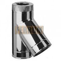 Сэндвич-тройник дымохода (нержавеющая сталь 0,5 мм + нержавеющая сталь) 135° Ф200х150