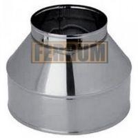 Конус дымохода (нержавеющая сталь 0,5 мм) Ф80х160
