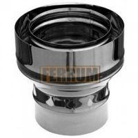 Адаптер стартовый дымохода (нержавеющая сталь 0,5 мм) Ф120х200