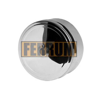 Заглушка дымохода для ревизии (нержавеющая сталь 0,5 мм) Ф110 внутренняя