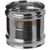 Адаптер дымохода ММ (нержавеющая сталь 0,8 мм) Ф130