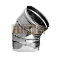 Колено дымохода (нержавеющая сталь 0,5 мм) 3 секции угол 135° Ф300