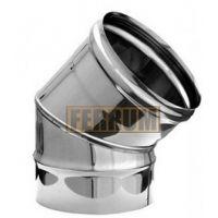 Колено дымохода (нержавеющая сталь 0,5 мм) угол 135° Ф300