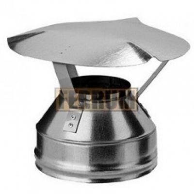 Оголовок дымохода (нержавеющая сталь 0,5мм) Ф210х140