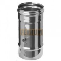 Шибер дымохода (нержавеющая сталь 0,5 мм)Ф135