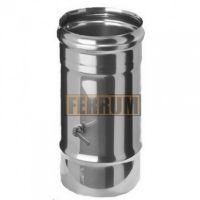 Шибер дымохода (нержавеющая сталь 0,8 мм)Ф110