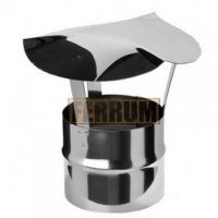 Зонт-К дымохода с ветрозащитой (нержавеющая сталь 0,5 мм) Ф100