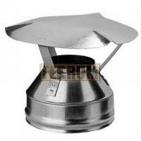 Оголовок дымохода (нержавеющая сталь 0,5мм) Ф210х150
