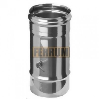 Шибер дымохода (нержавеющая сталь 0,8 мм)Ф115