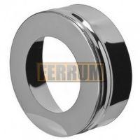 Заглушка дымохода с отверстием (нержавеющая сталь 0,5мм) Ф140x210