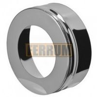 Заглушка дымохода с отверстием (нержавеющая сталь 0,5мм) Ф150x210