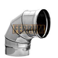 Колено дымохода (нержавеющая сталь 0,8 мм) угол 90° Ф200