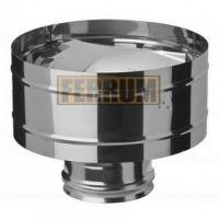 Зонт-К дымохода с ветрозащитой (нержавеющая сталь 0,5 мм) Ф300