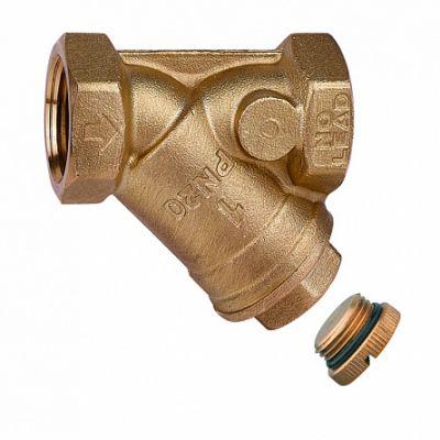 Фильтр сетчатый с заглушкой сливом - Сетка 0,65мм - ВР-ВР. - NL Латунь 1 1/4