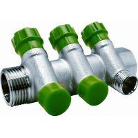 Коллектор с регулируемыми вентилями и переходами на наружную резьбу 3 выхода 3/4 x 1/2 EU.ST3078135 3х34х12 (Арт.:EU.ST3078135 3х34х12)