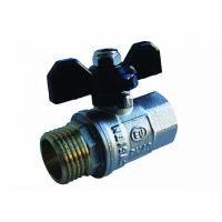 Кран шаровой Comfort (ручка-бабочка) 1 внутренняя - наружная резьба EU.SD8004100 1 (Арт.:EU.SD8004100 1)